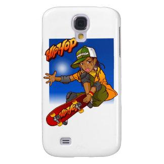 Hip Hop girl skateboard Cartoon Samsung S4 Case