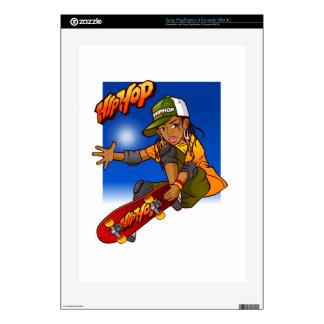 Hip Hop girl skateboard Cartoon Skin For The PS3 Console