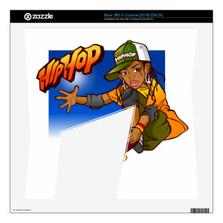 Hip Hop girl skateboard Cartoon Xbox 360 S Decals