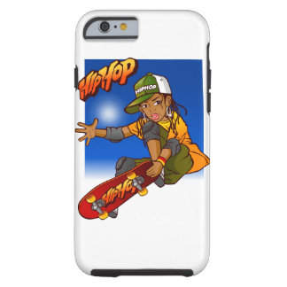 Hip Hop girl skateboard Cartoon Tough iPhone 6 Case