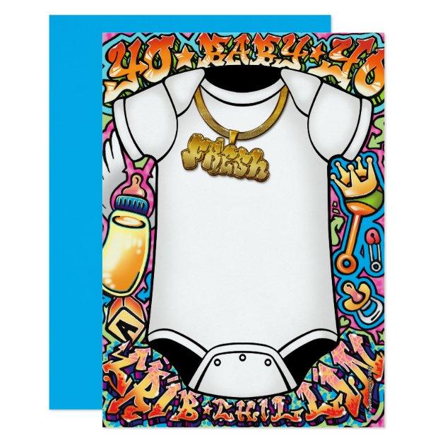 Hip Hop Graffiti Baby Shower Invitations Zazzle