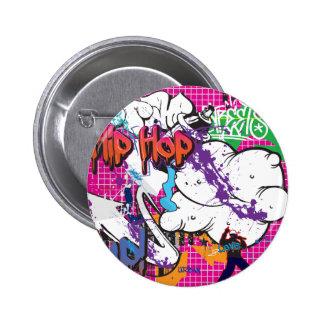 Hip Hop Graffiti Button