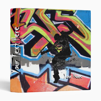 Hip Hop Graffiti Dancer Personalized 3 Ring Binder