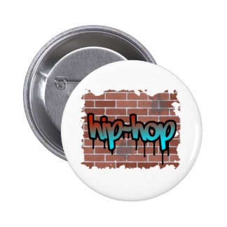 hip hop graffiti  design button