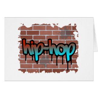 hip hop graffiti  design greeting card