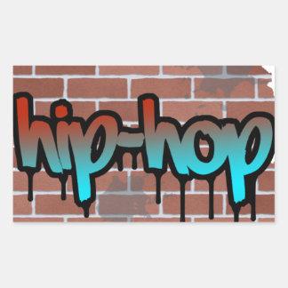 hip hop graffiti  design rectangular sticker