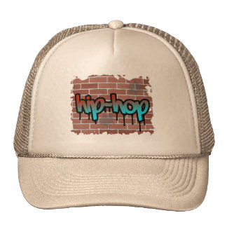 hip hop graffiti  design trucker hat