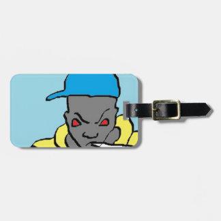 Hip hop head bag tag