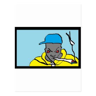 Hip hop head postcard