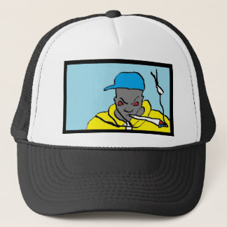 Hip hop head trucker hat