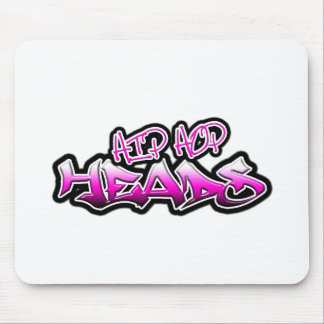 Hip Hop Heads (pink) Mouse Pad