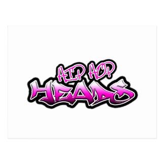Hip Hop Heads (pink) Postcard