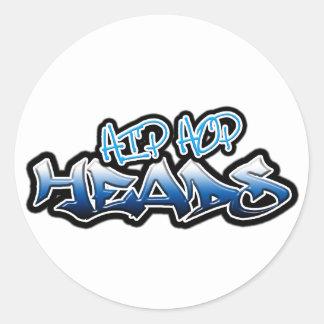 Hip Hop Heads Round Stickers