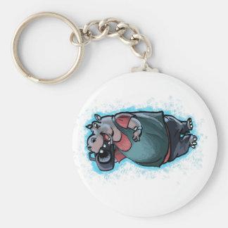 HIp Hop Hippo Keychain