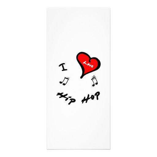 Hip Hop Items - I Heart Hip Hop Rack Card Design