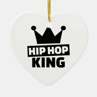 Hip hop king ceramic ornament