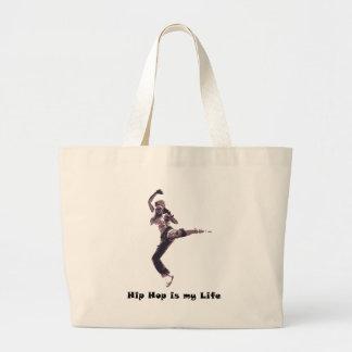 hip hop large tote bag