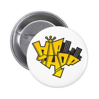 Hip-hop logo pinback buttons