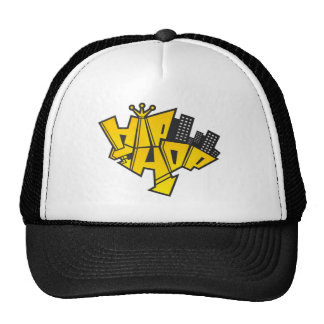 Hip-hop logo trucker hat