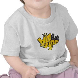 Hip-hop logotipo camisetas