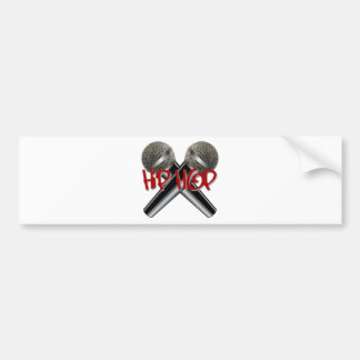 Hip Hop - mc rap dj rap turntable mic graffiti r&b Car Bumper Sticker