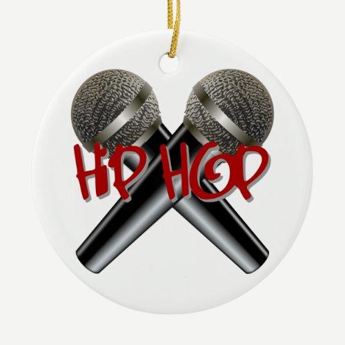 Hip Hop - mc rap dj rap turntable mic graffiti r&b Ceramic Ornament
