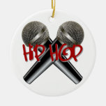 Hip Hop - mc rap dj rap turntable mic graffiti r&b Christmas Ornaments