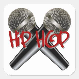 Hip Hop - mc rap dj rap turntable mic graffiti r&b Square Sticker