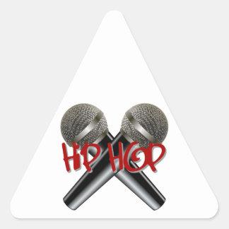 Hip Hop - mc rap dj rap turntable mic graffiti r&b Triangle Sticker
