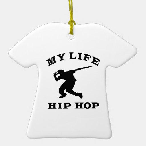 Hip Hop mi vida Ornamento Para Arbol De Navidad