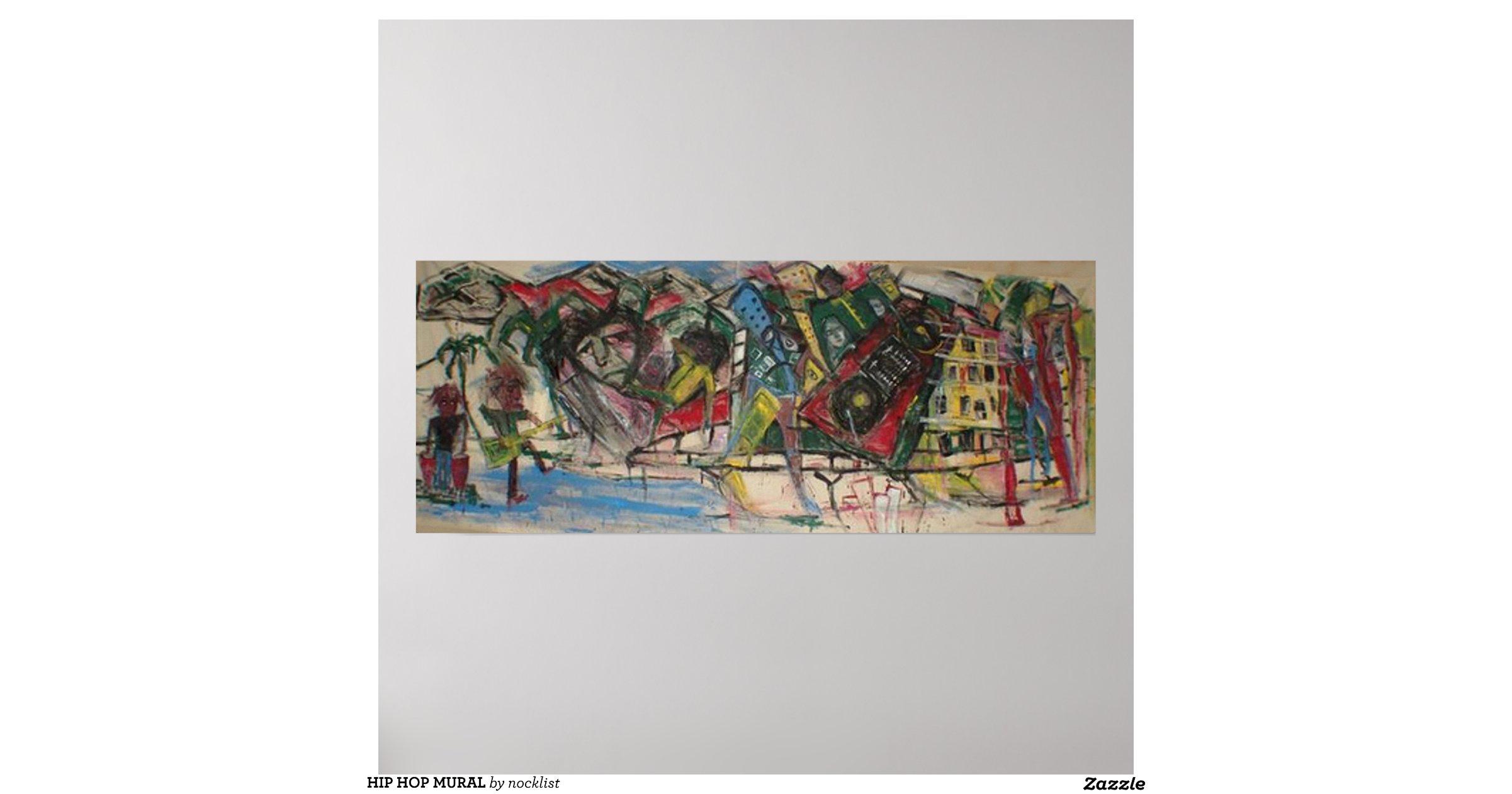 Hip hop mural poster r4a4a9c0fa5114409b1313d477a5a2b7f for Poster mural 4 murs