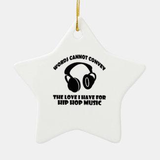 Hip-Hop Music designs Ceramic Ornament
