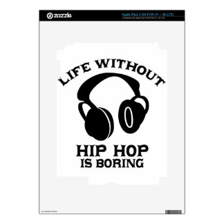 Hip-hop Music designs Decal For iPad 3