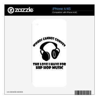 Hip-Hop Music designs Decal For The iPhone 4S