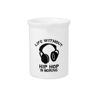 Hip-hop Music designs Drink Pitcher