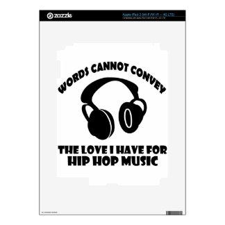 Hip-Hop Music designs iPad 3 Decal