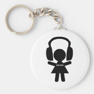 Hip Hop Music, Headphones, Hip-Hop Love Keychain