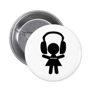 Hip Hop Music, Headphones, Hip-Hop Love Pinback Button