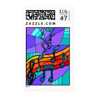 Hip Hop Music Stamp