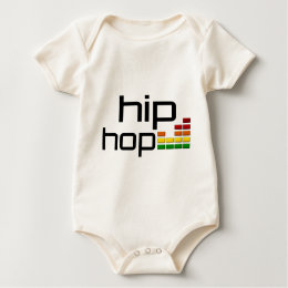 Hip Hop Music with Stereo Equalizer Baby Bodysuit