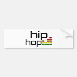 Hip Hop Music with Stereo Equalizer Bumper Sticker