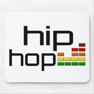 Hip Hop Music with Stereo Equalizer Mouse Pad