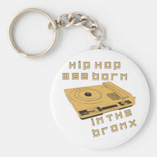Hip Hop nació en el Bronx Llavero Redondo Tipo Pin