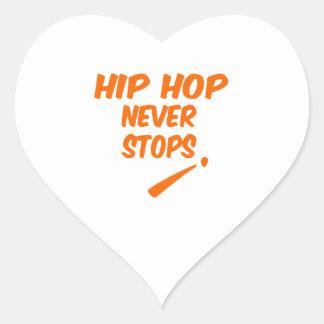Hip Hop Never Stops Heart Sticker