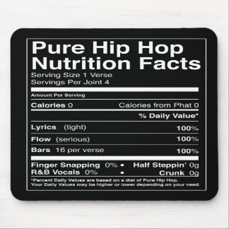 Hip Hop Nutrition Facts Mouse Pad