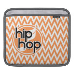 Hip Hop; Orange and White Chevron Sleeves For iPads