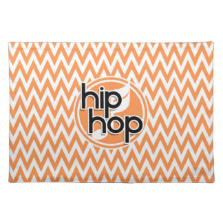 Hip Hop Orange and White Chevron Placemat
