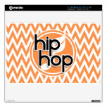 Hip Hop; Orange and White Chevron Decal For MacBook
