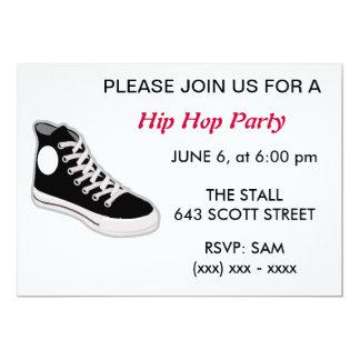 "Hip Hop Party Invitation 5"" X 7"" Invitation Card"