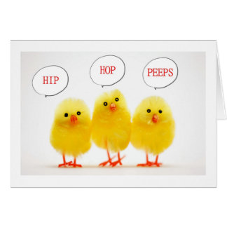 HIP HOP PEEPS SAY HAPPY EASTER HOLIDAY CARD